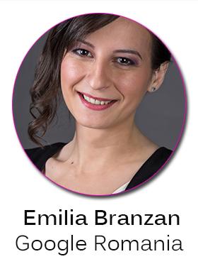Speakerii conferintei Femei de cariera: Emilia Branzan (Google Romania)