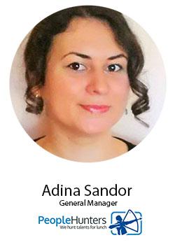 Adina Sandor, People Hunters - speaker la Femei de cariera, editia 21 septembrie 2017